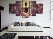 Modern buddha painting print picture wall art buddha printed canvas printed pictures 5 pieces buddha canvas art(China)
