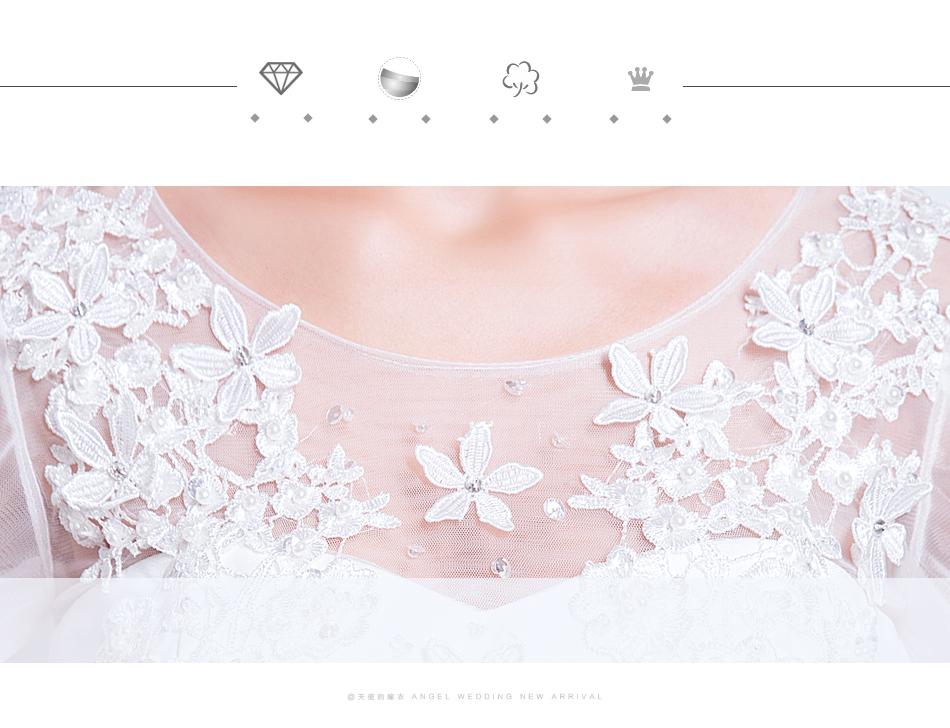 Angel Wedding Dress Marriage Bride Bridal Gown Vestido De Noiva 2017 Sweet, lace, flowers, long sleeves, 6011 7