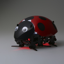 Educational Intelligent Robot Ladybug Toys Funny Electronic DIY Insect Toy Wireless Remote Control RC Vehicles Car Crawlers(China)