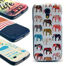 [ Promotion ] Hard cover cases For Samsung Galaxy S4 mini I9190 shell lion Elephant Chrysanthemum Whale Design Cell phone case(China)