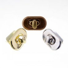 Free Shipping 1 Sets Trunk Lock Handbag Bag Accessories Purse Snap Clasps/ Closure Locks 37x21mm
