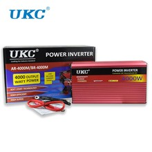 UKC 2000W 3000W 4000W Car Power Inverter Converter DC 12V To AC 220V 50HZ Full Protection AC Power Inverter USB Charger Adapter