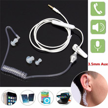 3.5mm Anti Radiation Earphone Unilateral Spring Air Duct Earhook For iPhone Xiaomi All Mobile Phone & MP3 MP4 Player