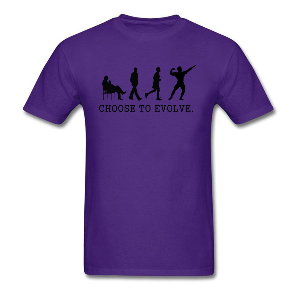 Choose to Evoe Tops Shirt Fashion O-Neck Printed Short Sleeve 100% Coon Fabric Student T Shirt Design Tee Shirts Choose to Evoe purple