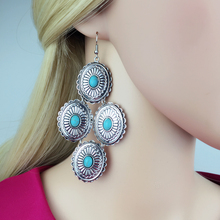 Free shipping! Manufacturers selling  Synthetic stone earrings The European and American wind exaggerated earrings wholesale