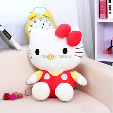 2pcs 18cm hello kitty plush cat plush toys for children, car or room decoration hello kitty stuffed animal doll(China)