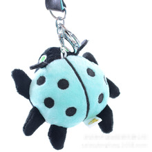 10cm hot Baby toys bear Plush Doll Ladybug Bag Car Key ring Keychain Trinket pendant Plush toy Cute gift childs birthday infant