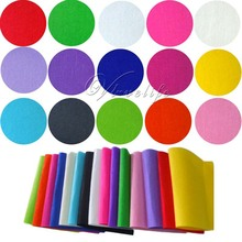 15pcs 20cm*30cm Felt Fabric Crafting Handicraft A4 Sheets 1mm thick Sewing Glue Scrapbooking DIY One Piece Of Each 15 Colours(China)
