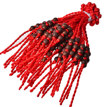 Hot Wholesale Fashion Jewelry 100pcs Handmade Braided Wood Amulet Lucky Red String Charm Woman Good Lucky Bracelets&Bangle S383