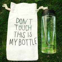 Mondri Water Bottle Print I Solemnly Swear That L Am Up To No Good Plastic Sports Bottle With Portable Bag(China)
