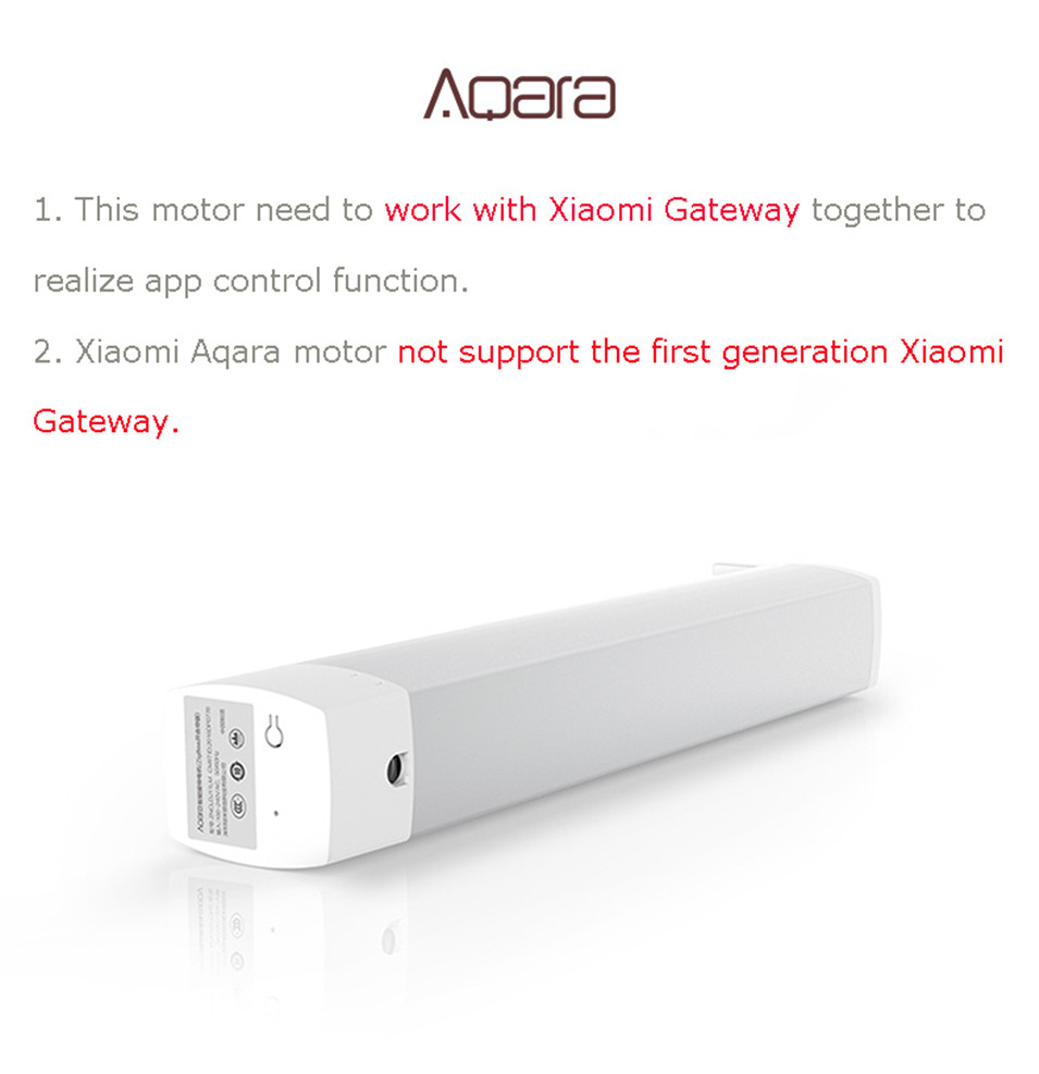 Original Xiaomi Aqara Curtain Motor,Zigbee Silent Motor,2.4GHz WIFI Wireless Control,Work with XiaomiMijia Gateway,Mi Home App-5