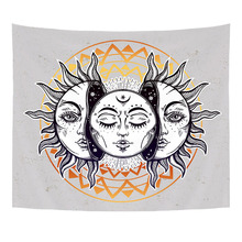 Comwarm Indian Mandala Style Tapestry Short Plush High Quality Wall Hanging Sun Printed Beach Towel Decorative Livingroom boheme(China)
