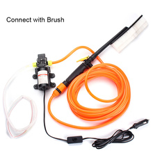 DC12V Mini Diaphragm Pump Portable High Pressure Car Electric Power Washer Auto Wash Pump Foam brush Filter Set