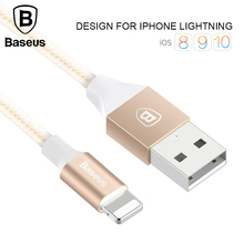 Baseus 2A USB Cable For iPhone 5 5s 6s 6 7 Plus Mobile Phone Charging Cable Data Sync Charger Cable 1m Wire For IOS 8 9 10