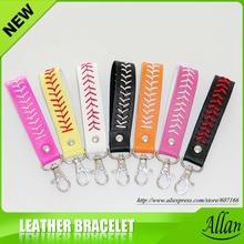 2017 baseball keychain,fastpitch softball accessories baseball seam keychains 7 color  DHL free Shipping