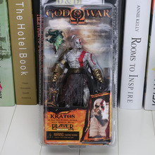 "5pcs/Lot God of War Kratos with Medusa Head 7.5"" PVC Action Figure(China)"
