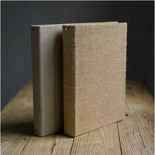 Burlap and Linen Thick 30P 500g Kraft Paper DIY Album Blank Hand - Painted Cafe Recipes Diy Paper Photo Album Scrapbook(China)