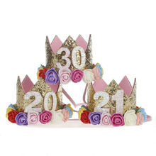 20th 21st 30th Birthday Crown , Glitter Birthday Party Hat , Adult Cake Smash