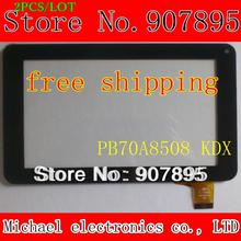 2PCS 7inch 186X111 mm capacitive touch screen panel for Freelander pd10 Y7Y007 86VS ZHC-0598 ZHC-0598 H-CTP070-015 MF-309-070F-2
