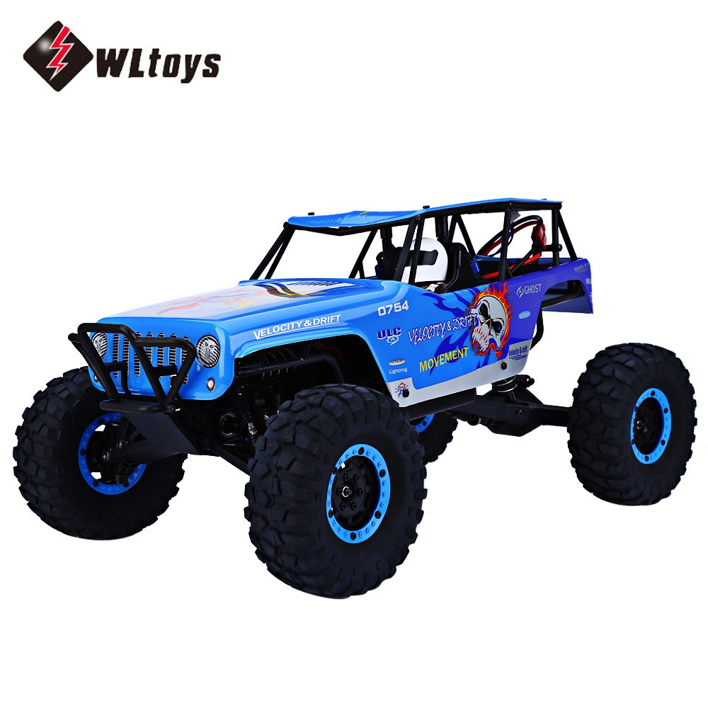 WLtoys RC Cars 2.4GHz 1:10 Scale Remote Control Electric Wild Track Car Toy High Speed Four Wheels Drive Vehicle Racing Car 2016