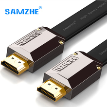 SAMZHE Flat 4K*2K HDMI Cable Resolution 3840*2160/60hz Version 2. 0 for Laptop Xbox to Projector TV Screen and Big Screen(China)