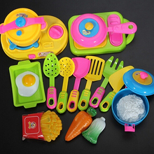 17Pcs Children Kids Funny Kitchenware Cookware Food Plastic Toy Kitchen Play Set(China)