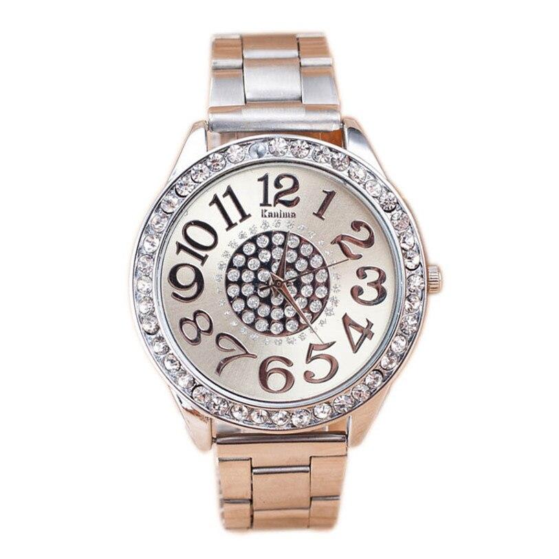 Superior 1PC Luxury Diamond Stainless Steel Sport Quartz Wrist Hour Dial Watch July 25<br><br>Aliexpress
