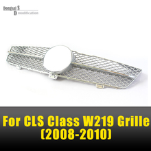 Replacement ABS Mercedes W219 Grill Mesh Front Bumper Racing Grille For Benz CLS Class W219 LCI 2008 2009 2010 CLS500 CLS280