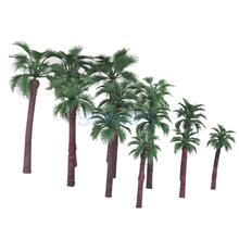 12pcs Serious Play Model Palm Trees Railway Railroad Scenery Plastic Tree