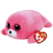 "Pyoopeo Original 10"" 25 cm TY Beanie Boos Pierre Pink Seal Plush Stuffed Animal Collectible Doll Toy(China)"
