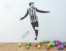 Football Player 3d Poster Wall Stickers Adesivo de parede para quarto Autocollant Mural Decoracion  Teens Bedrooms  SA094