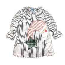 New Girls Christmas Dress Kids Stripes Santa Claus Dresses Baby Girls Star Moon Xmas Dress Baby Girls Clothes 81092