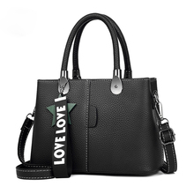 Women Bag Pu Leather Tote Brand Name Bag Ladies Handbag Lady Evening Bags Solid Female Messenger Bags Travel Fashion Sac(China)