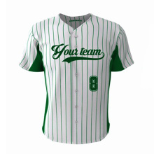 Custom Design Sublimation Green Stripe Baseball jersey Men & Women Fit Size Wholesale Softball Traning Shirt Jersey Team Wear