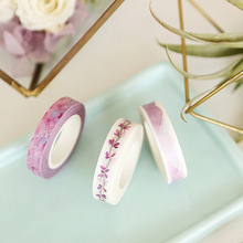 0.8/1cm*8m Slim Ancient Purple Watercolor Washi Tape DIY Decoration Scrapbooking Planner Masking Tape Label Sticker Stationery