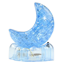 3D Crystal Puzzle Jigsaw Model DIY Flash Moon IQ Toy Furnish Gift Souptoy Gadget