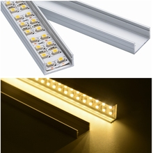 10set 3.3ft/1m/set U-Shape LED Strip Aluminum Channel Profile for 14mm 15mm 16mm PCB LED Bar Light Housing with Cover Fittings