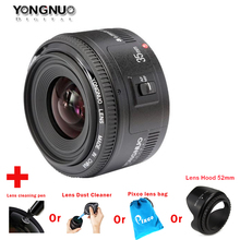 Yongnuo EF 35mm F/2 1:2 Auto Focus Wide-Angle Prime Lens Suit For Canon Cleaning Pen Dust Cleaner Pixco Lens Bag 52mm Lens Hood