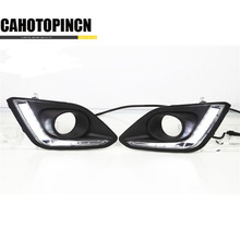 High quality Waterproof 12V LED CAR DRL Daytime running lights with fog lamp hole for Suzuki Swift 2013 2014 2015 2016