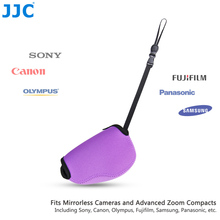 JJC Mirrorless Camera Pouch Purple Case Neoprene SLR Bag for Canon SX400 IS/SX410 IS/SX420 IS/SX510 HS Nikon P7800/DL18-50 LX100