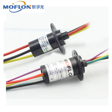 slip ring, 2~12 wires, 2~30A/ring, rotating electrical connector, moflon electrical rotaty joint, large current, wind, capsule(China)