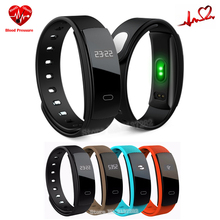 Blood Pressure Smart Wristband QS80 Heart Rate Monitor Fitness Bracelet Pedometer Sleep Monitor Call Reminder Smart Bracelet