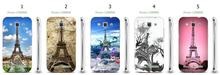 Online-custom Eiffel Tower hot hard plastic back cover case for Samsung Galaxy Win i8550/i8552/i8558 Free Shipping