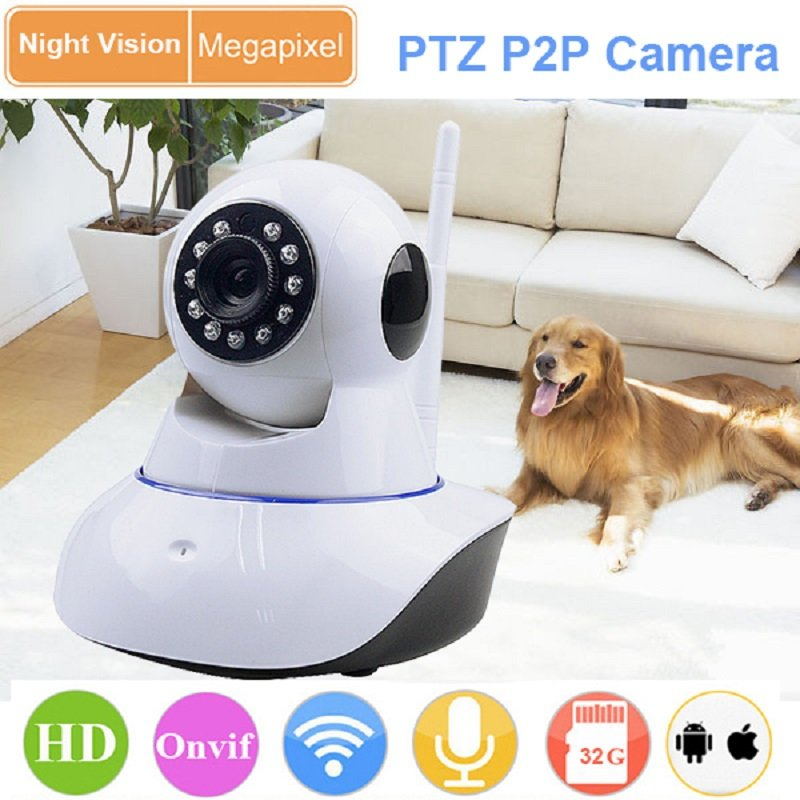 Wifi IP Camera Wi-Fi Wireless 1080P HD Motion Sensor Support Night Vision SD Card Video Compression Format H.264 Onvif 2.0<br>