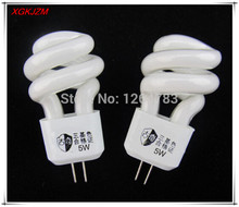 G4 small spiral energy saving  mirror front lamp 3W / 5W fluorescent energy saving lamp 5pcs / lot free shipping