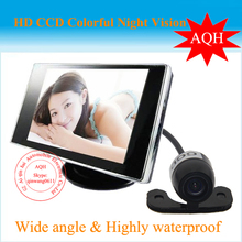 "Factory promotion 2016 High Resolution 4.3"" Color TFT LCD Car Rearview Monitor for DVD VCD Camera VCR video Super Slim"
