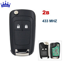 2 Buttons 433MHz With ID46 Chip Remote Control Key Fob for Chevrolet Aveo Cruze Orlando HU100 Blade(China)