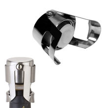 Free Shipping New Champagne Sparkling Wine Bottle Stopper Sealer Plug Stainless Steel