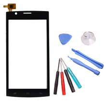 LINGWUZHE Cell Phone Digitizer Touch Screen Sensor Touch Glass Panel With Tools For FLY Nimbus 3 FS501 5 Inch