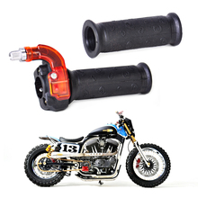 "1Pair New Black Twist Throttle Grips Accelerator Handle fit for 49cc Mini Bike ATV Quad Pocket Dirt 7/8"" 22mm bar"